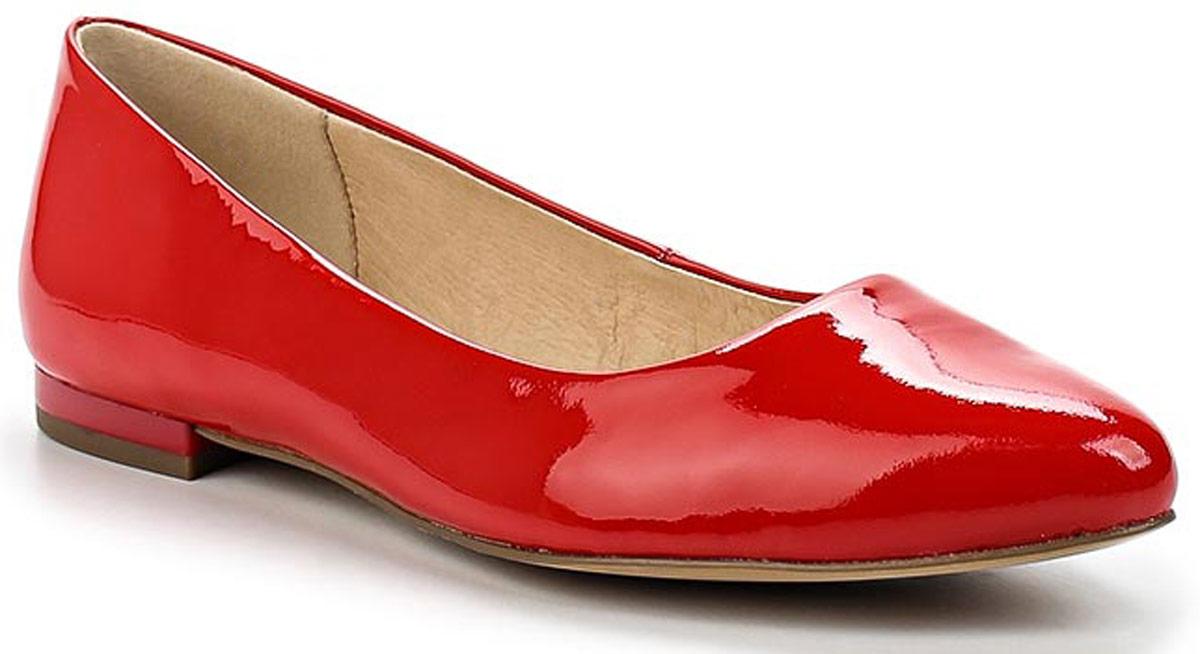 Балетки женские Caprice, цвет: красный. 9-9-22107-28-505/200. Размер 409-9-22107-28-505/200Удобные женские балетки, выполненные из натуральной лакированной кожи, покорят вас с первого взгляда. Внутренняя поверхность и стелька, также выполненные из натуральной кожи, обеспечат комфорт ногам. Подошва оснащена рифлением.