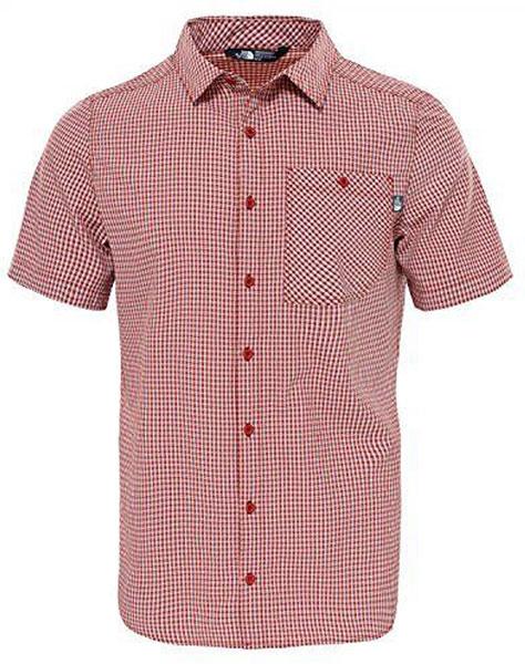 Рубашка мужская The North Face M S/S Hypress, цвет: красный, белый. T0CD5Z619. Размер S (48)T0CD5Z619Стильная мужская рубашка The North Face, изготовленная из нейлона с полиэстером, необычайно мягкая и приятная на ощупь, не сковывает движения и позволяет коже дышать, обеспечивая наибольший комфорт. Рубашка со степенью защиты от ультрафиолета UPF50 подходит для путешествий - отличный вариант для природы и не только.Модная рубашка с отложным воротником и короткими рукавами застегивается на пластиковые пуговицы по всей длине изделия. По бокам предусмотрены разрезы. Смещенные швы на плечах обеспечивают удобство ношения рюкзака. Модель оформлена принтом в клетку и на груди слева дополнена накладным карманом на пуговице. Эта рубашка идеальный вариант для повседневного гардероба.Такая модель порадует настоящих ценителей комфорта и практичности!