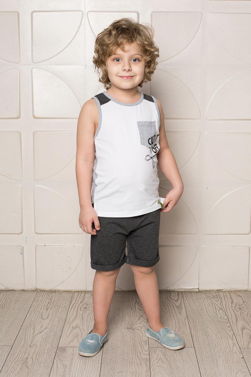 Шорты для мальчика Sweet Berry, цвет: темно-серый меланж. 713120. Размер 104713120Стильные шорты для мальчика Sweet Berry выполнены из мягкого трикотажного материала. Модель с отворотами имеет пояс на мягкой контрастной резинке, дополнительно регулируемый шнурком.