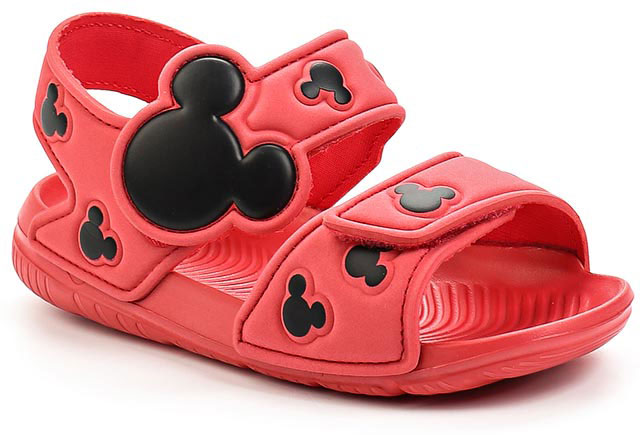 Сандалии для девочки adidas Disney M&M AltaSwim, цвет: розовый, черный. BA9304. Размер 24BA9304В этих очаровательных пляжных сандаликах с розовым верхом и принтом в стиле Микки Мауса малышам будет удобно играть у бассейна или на берегу моря. Текстильная подкладка обеспечивает комфорт маленьким ножкам, а мягкие ремешки на липучке облегчают надевание и снимание.