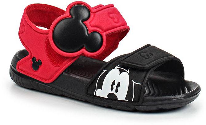 Сандалии для мальчика adidas adidas M&M AltaSwim, цвет: черный, красный. BA9303. Размер 25BA9303В этих очаровательных пляжных сандаликах с розовым верхом и принтом в стиле Микки Мауса малышам будет удобно играть у бассейна или на берегу моря. Текстильная подкладка обеспечивает комфорт маленьким ножкам, а мягкие ремешки на липучке облегчают надевание и снимание.