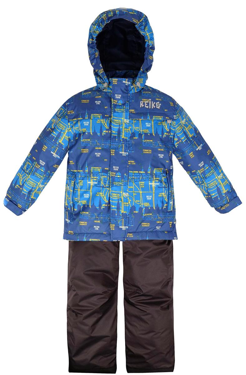 Комплект верхней одежды для мальчика Reike Метро: куртка, полукомбинезон, цвет: синий. 36938220. Размер 116, 6 лет36 938 220_Subway blueКомплект для мальчика Reike Метро состоит из куртки, декорированной принтом в городской стилистике, и однотонного полукомбинезона. Комплект выполнен из ветрозащитной, водонепроницаемой и дышащей мембранной ткани на подкладке со вставками из микрофлиса (спинка, грудь куртки). Куртка дополнена съемным регулирующимся капюшоном, тремя карманами и светоотражателями. Ветрозащитная планка на кнопках и липучках вдоль молнии не допустит проникновения холодного воздуха.Завышенная талия и регулируемые подтяжки полукомбинезона гарантируют удобную посадку по фигуре. Низ усилен защитой от истирания. Оснащены двумя боковыми карманами на молнии, а также съемными штрипками. Особенности комплекта: - базовый уровень;- коэффициент воздухопроницаемости: 2000гр/м2/24 ч;- водоотталкивающее покрытие: 2000 мм.