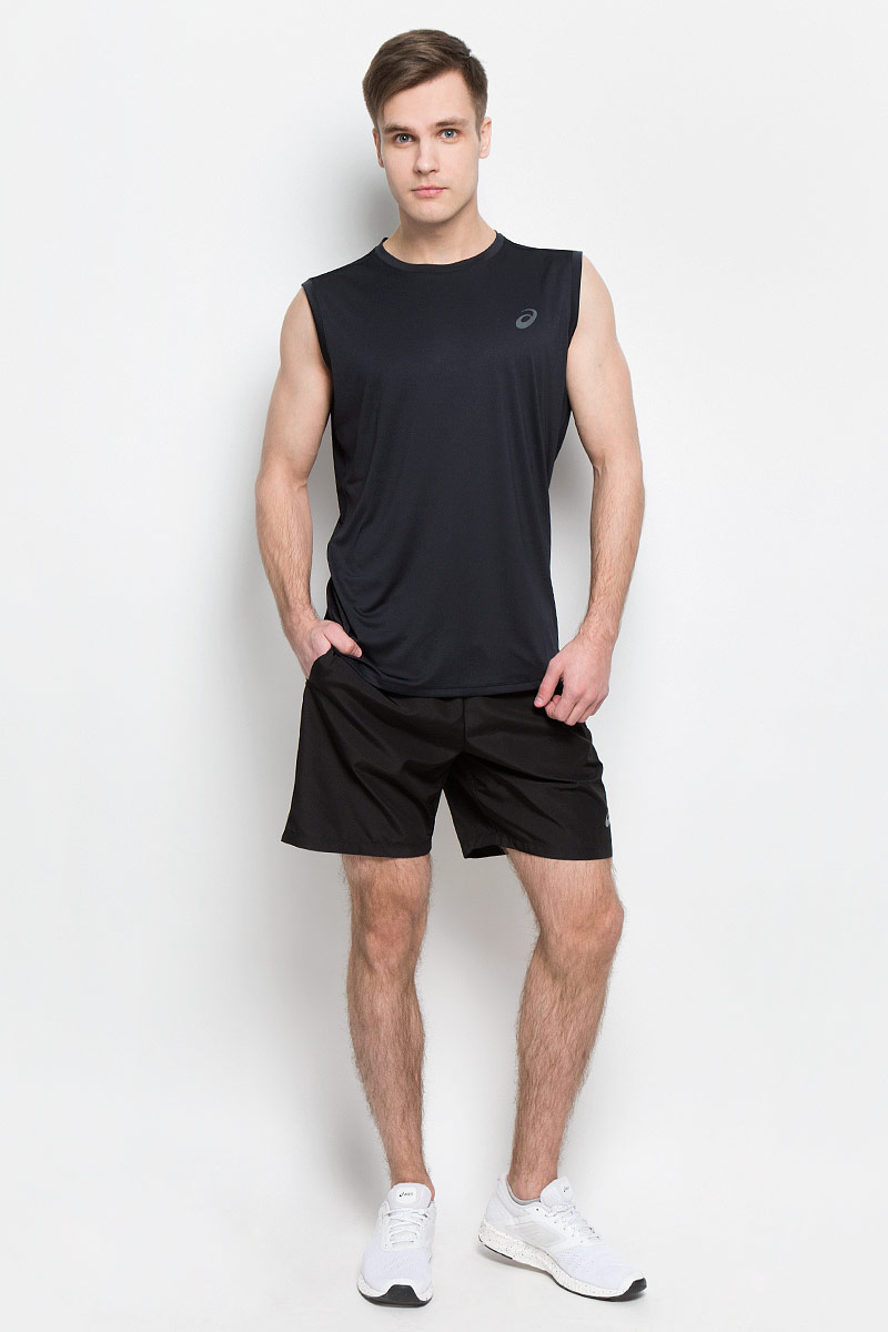 Майка для фитнеса мужская Asics Performance Sl Top, цвет: черный. 144529-0904. Размер L (50/52)