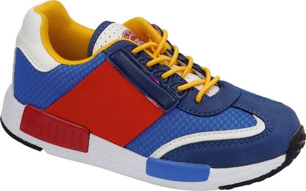 Кроссовки детские Зебра, цвет: синий, красный. 11643-19. Размер 3711643-19Кроссовки от Зебра выполнены из высококачественного текстиля и искусственной кожи. Эластичная шнуровка с фиксатором обеспечивает надежную фиксацию обуви на ноге ребенка. Подкладка выполнена из текстиля, а стелька – из натуральной кожи, что предотвращает натирание и гарантирует уют. Подошва из филона дает превосходную амортизацию и упругость, хорошо поддерживает стопу.