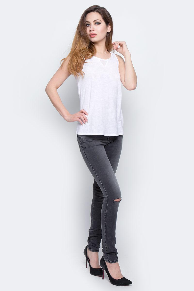 Футболка женская Lee Cooper, цвет: белый. ANITA-5055. Размер M (46)ANITA-5055