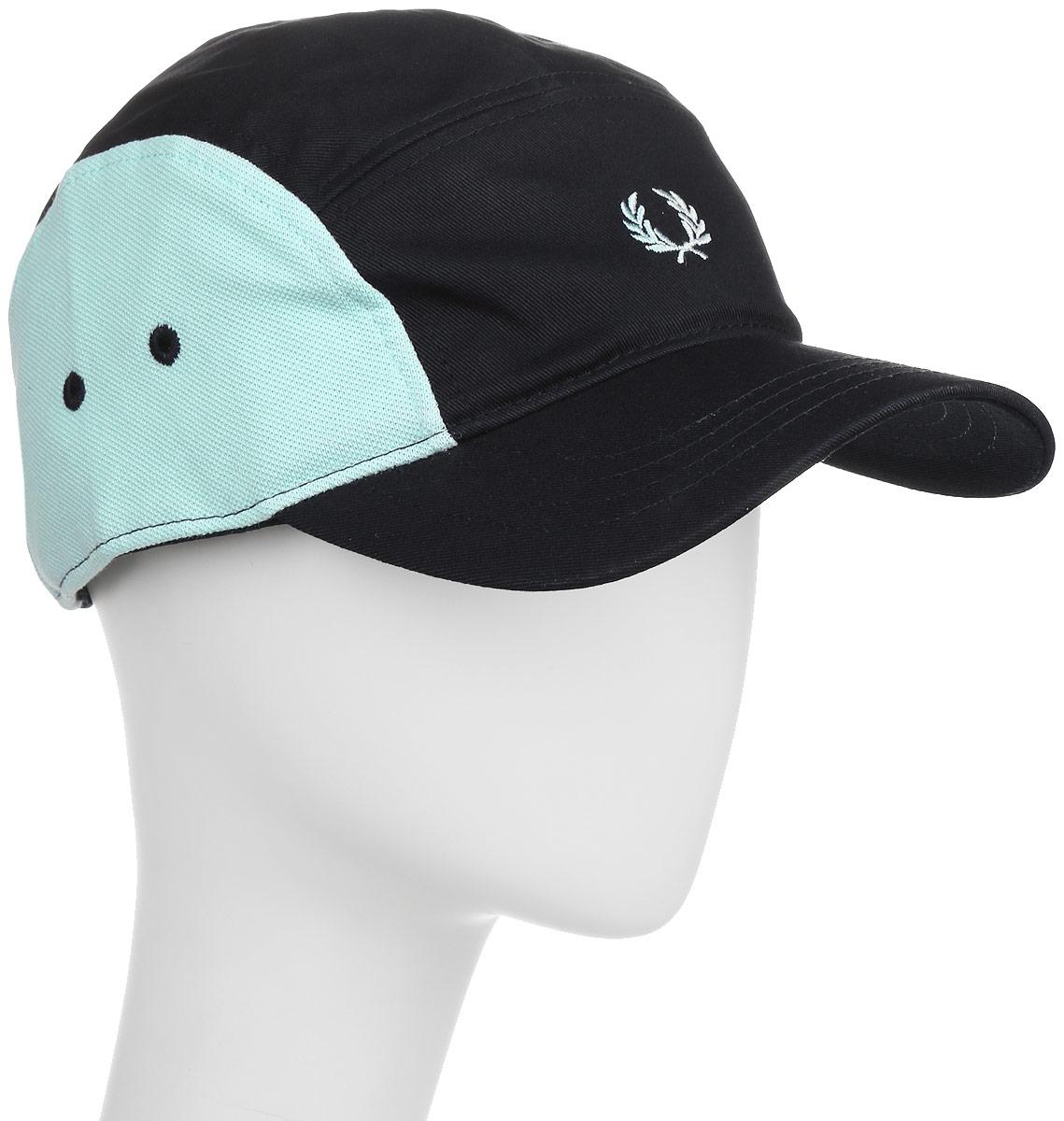 Кепка мужская Fred Perry Pique Mix 5 Panelled Baseball Cap, цвет: синий. HW1615-608. Размер универсальныйHW1615-608