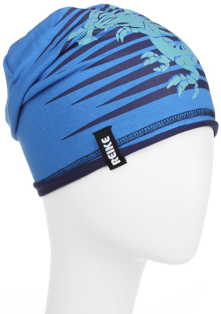 Шапка для мальчика Reike Драконы, цвет: синий. RKNSS17-DRG1. Размер 54RKNSS17-DRG1_blueСтильная шапка для мальчика Reike Драконы, изготовленная из качественного хлопкового материала, отлично впишется в гардероб ребенка. Модель с контрастным подкладом оформлена принтом в стиле серии. Уважаемые клиенты!Размер, доступный для заказа, является обхватом головы.