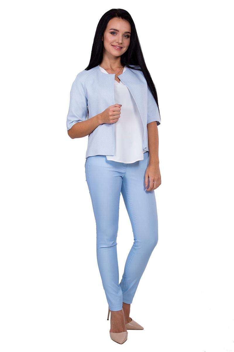 Брюки женские Pavlotti, цвет: голубой. П16-082. Размер 42П16-082Женские брюки Pavlotti изготовлены из хлопка с добавлением полиэстера и эластана. Модель застегивается на молнию и пуговицу. Брюки с завышенной талией подчеркнут длину и стройность ног.