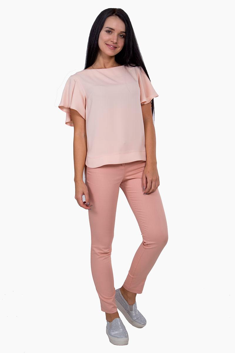 Брюки женские Pavlotti, цвет: персиковый. П16-082. Размер 50П16-082Женские брюки Pavlotti изготовлены из хлопка с добавлением полиэстера и эластана. Модель застегивается на молнию и пуговицу. Брюки с завышенной талией подчеркнут длину и стройность ног.