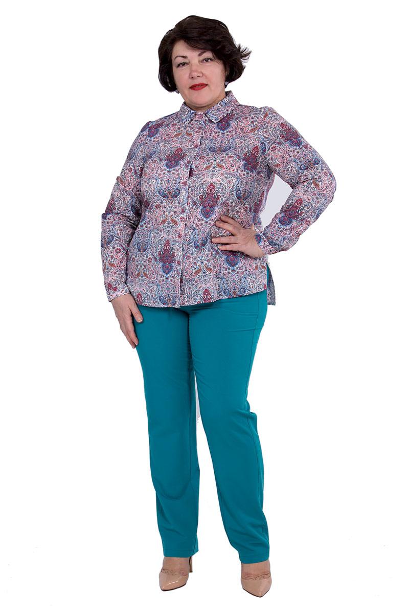 Блузка женская Pavlotti, цвет: красный, голубой. П18-203. Размер 54П18-203Блузка Pavlotti выполнена из хлопка с добавлением полиэстера. Модель с отложным воротником и длинными рукавами застегивается на пуговицы. Классический фасон блузки подчеркнет достоинства фигуры за счет нагрудных вытачек, создавая тем самым идеальный силуэт, а разрезы в боковых швах и паты на рукавах позволят создать более расслабленный и непринужденный образ. Изделие оформлено принтом.