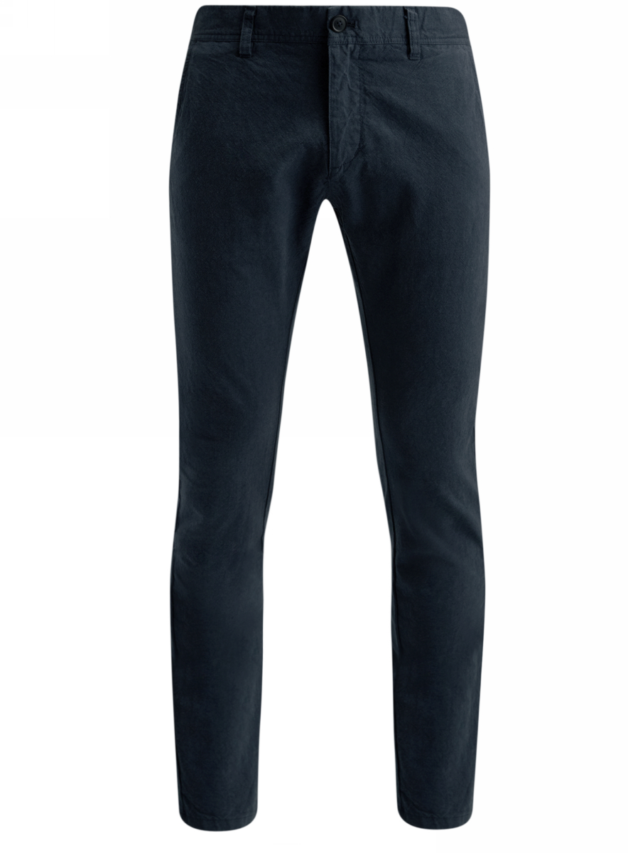 Брюки мужские oodji Lab, цвет: синий. 2L150080M/44310N/7575O. Размер 36-182 (44-182)2L150080M/44310N/7575OСтильные мужские брюки oodji Lab выполнены из натурального хлопка. Модель-чинос стандартной посадки застегивается на пуговицу в поясе и ширинку на застежке-молнии. Пояс имеет шлевки для ремня. Спереди брюки дополнены двумя втачными карманами и маленьким потайным прорезным кармашком, сзади - двумя прорезными карманами, которые закрываются на клапаны с пуговицами.