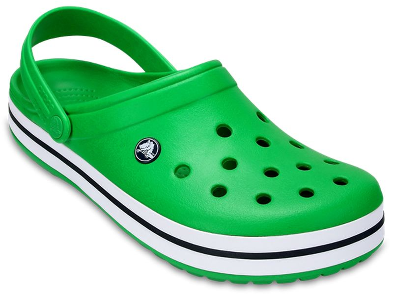 Сабо Crocs Crocband, цвет: зеленый. 11016-3E3. Размер 7-9 (39/40 )11016-3E3Модные сабо Crocband от Crocs придутся вам по душе. Верх модели выполнен из полимера Croslite с добавлением резины. Благодаря материалу Croslite обувь невероятно легкая, мягкая и удобная. Материал Croslite - бактериостатичен, препятствует появлению неприятных запахов и легок в уходе: быстро сохнет и не оставляет следов на любых поверхностях. Верх модели оформлен отверстиями, которые обеспечивают естественную вентиляцию, подошва - контрастными полосками и названием бренда. Под воздействием температуры тела обувь принимает форму стопы. Пяточный ремешок обеспечивает фиксацию стопы при ходьбе. Рельефная поверхность верхней части подошвы комфортна при движении. Рифленое основание подошвы гарантирует идеальное сцепление с любой поверхностью. Такие сабо - отличное решение для каждодневного использования!Уважаемые клиенты!Обращаем ваше внимание на то, что страной-изготовителем для некоторых размеров и цветов модели может быть Вьетнам.