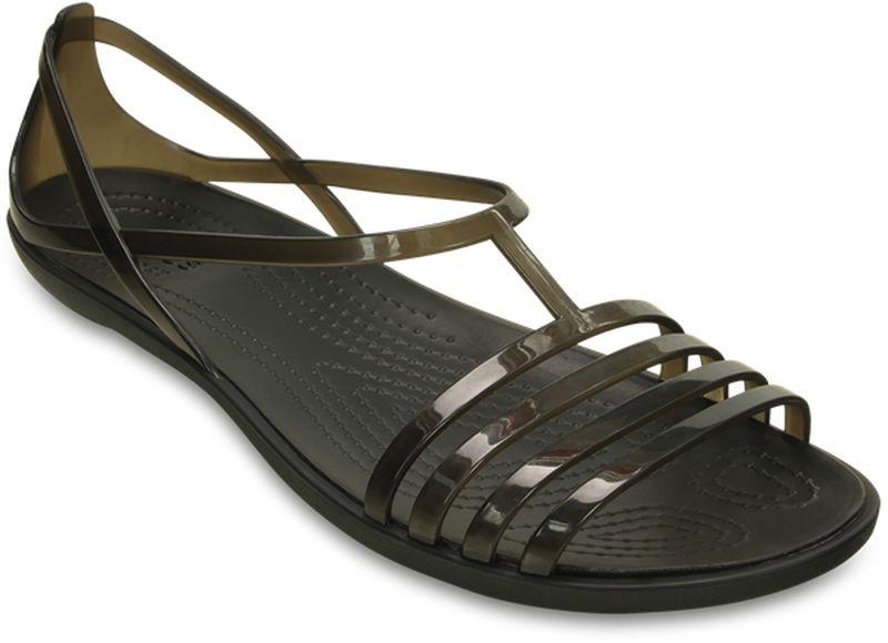 Сандалии женские Crocs Isabella, цвет: черный. 202465-001. Размер 6 (36)202465-001Модные сандалии от Crocs - незаменимая вещь в гардеробе каждой женщины.Рельефная поверхность верхней части подошвы комфортна при движении. Рифленое основание подошвы гарантирует идеальное сцепление с любой поверхностью. Такие сандалии не только прекрасно смотрятся на ноге, они еще удобны и долговечны. Эффектные сандалии станут прекрасным завершением вашего летнего образа.