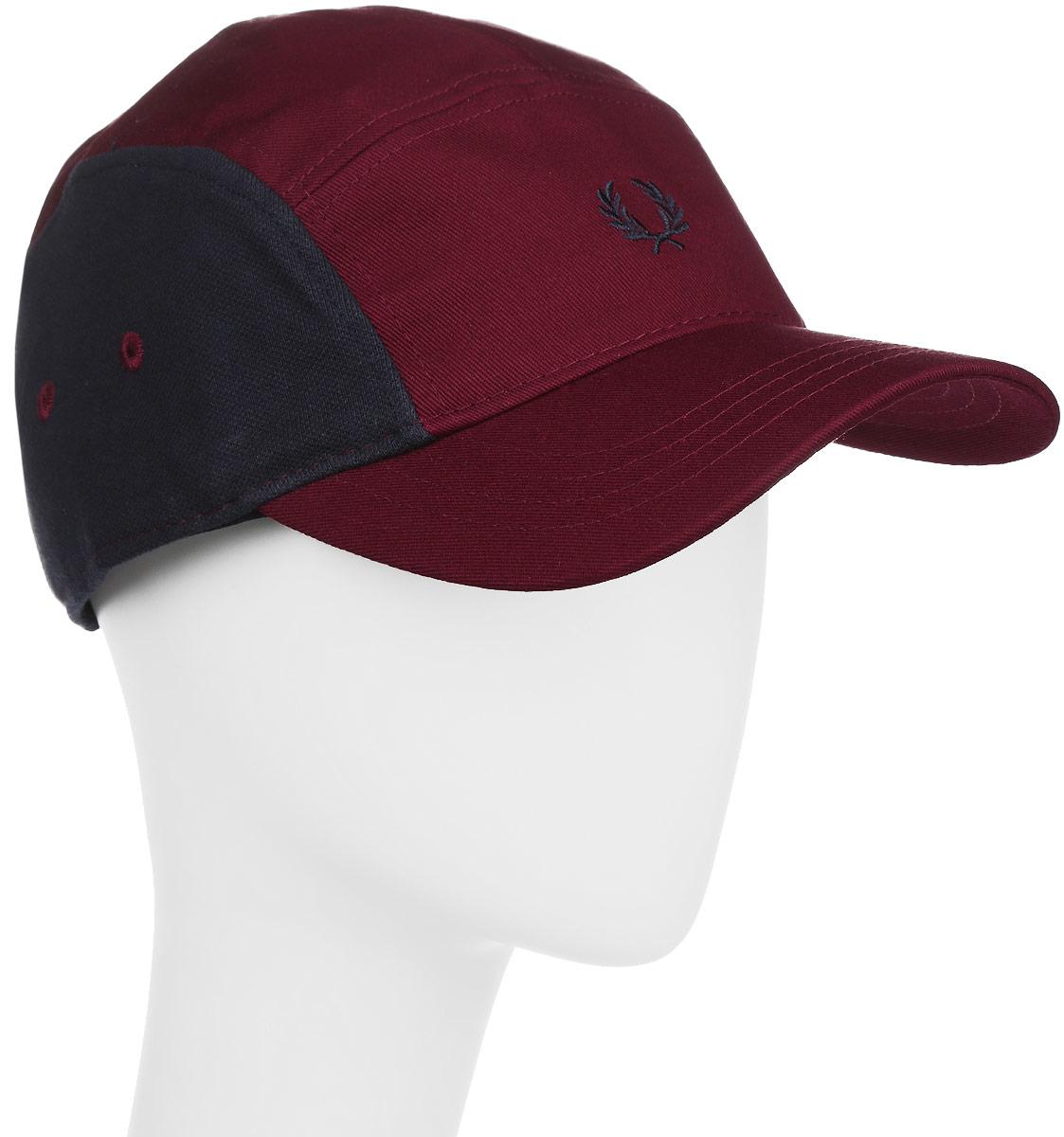 Кепка мужская Fred Perry Pique Mix 5 Panelled Baseball Cap, цвет: бордовый. HW1615-106. Размер универсальныйHW1615-106