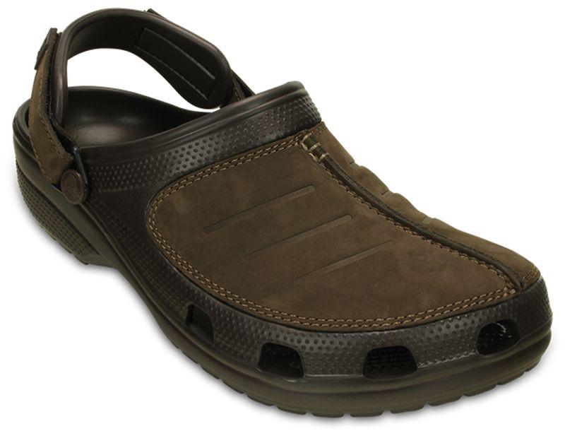 Сабо мужские Crocs Yukon Mesa Clog, цвет: коричневый. 203261-22Z. Размер 9 (42)203261-22ZСабо Crocs придутся вам по душе. Рельефная поверхность верхней части подошвы комфортна при движении. Рифленое основание подошвы гарантирует идеальное сцепление с любой поверхностью. Такие сабо - отличное решение для каждодневного использования!