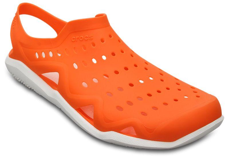 Сабо мужские Crocs Swiftwater Wave Shoe, цвет: оранжевый. 203963-846. Размер 10 (43)203963-846Сабо Crocs придутся вам по душе. Рельефная поверхность верхней части подошвы комфортна при движении. Рифленое основание подошвы гарантирует идеальное сцепление с любой поверхностью. Такие сабо - отличное решение для каждодневного использования!