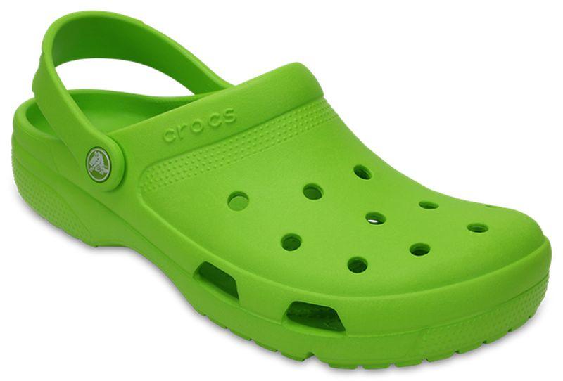 Сабо Crocs Coast Clog, цвет: зеленый. 204151-395. Размер 11 (43/44 )204151-395Сабо придутся вам по душе. Рельефная поверхность верхней части подошвы комфортна при движении. Рифленое основание подошвы гарантирует идеальное сцепление с любой поверхностью. Такие сабо - отличное решение для каждодневного использования!