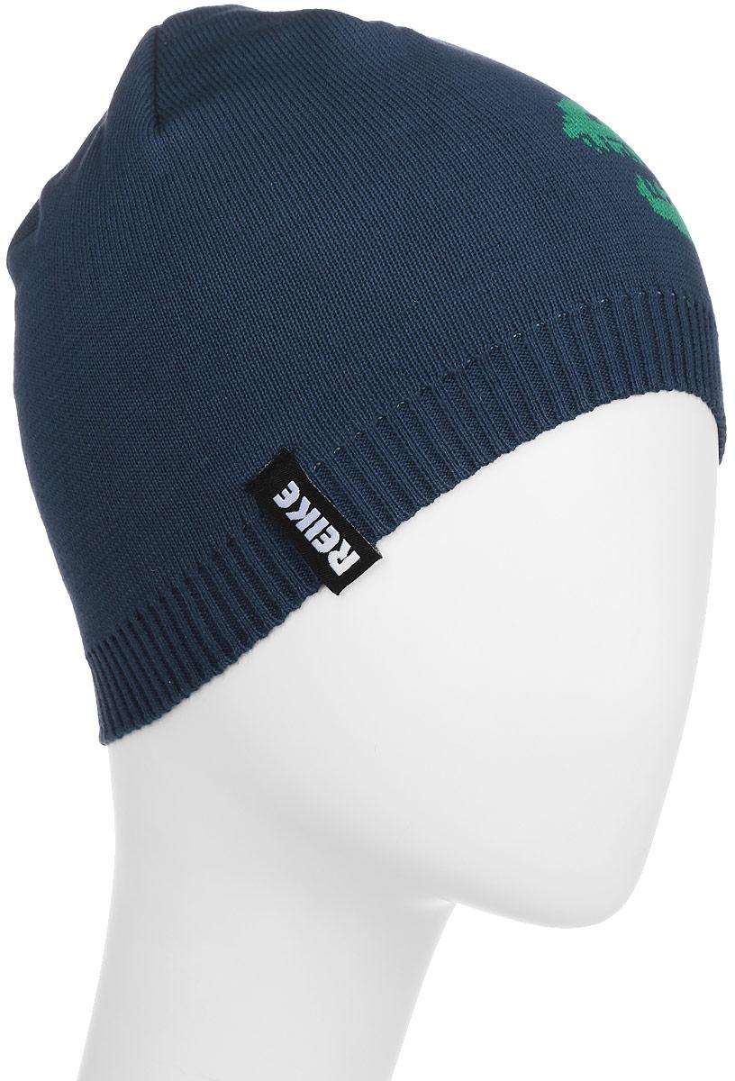 Шапка для мальчика Reike Драконы, цвет: синий. RKNSS17-DRG1-YN. Размер 50RKNSS17-DRG1-YN_navyСтильная шапка для мальчика Reike Драконы, изготовленная из натурального хлопка мелкой вязки, отлично впишется в гардероб ребенка. Модель двойной вязки дополнена резинкой и оформлена принтом в стиле серии и логотипом Reike. Уважаемые клиенты!Размер, доступный для заказа, является обхватом головы.