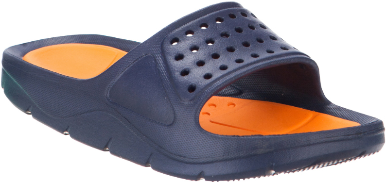 Шлепанцы для мальчика Kapika, цвет: темно-синий, оранжевый. 84043. Размер 3784043Удобные шлепанцы от Kapika покорят вашего мальчика с первого взгляда! Модель полностью выполнена из ЭВА материала и оформлена на ремешке перфорацией. Рифление на верхней поверхности подошвы предотвращает выскальзывание ноги. Рельефное основание подошвы обеспечивает уверенное сцепление с любой поверхностью. Удобные шлепанцы прекрасно подойдут для похода в бассейн или на пляж.