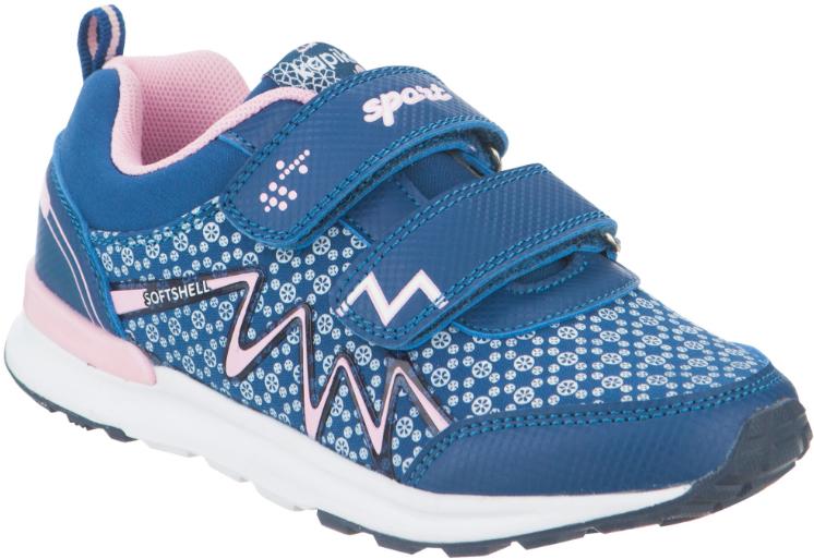 Кроссовки для девочки Kapika, цвет: синий. 73286с-2. Размер 3273286с-2Стильные кроссовки от Kapika заинтересуют вашего ребенка с первого взгляда. Модель, выполненная из текстиля и искусственной кожи, дополнена стильным принтом.Верхний ремешок дополнен надписью Sport. Ремешки на застежке-липучке гарантируют надежную фиксацию модели на ноге. Внутренняя поверхность из текстиля обеспечивает комфорт и предотвращает натирание. Стелькаиз натуральной кожи дополнена супинатором, который отвечает за правильное формирование стопы. Рифление на подошве гарантирует отличное сцепление с любой поверхностью. Удобные кроссовки займут достойное место в гардеробе вашего ребенка.