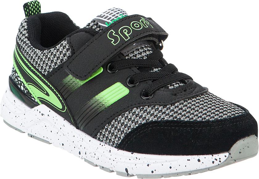 Кроссовки для мальчика Kapika, цвет: черный, зеленый. 73268-3. Размер 3373268-3Стильные кроссовки от Kapika не оставят равнодушным вашего ребенка! Модель изготовлена из комбинированного материала. Ремешок с застежкой-липучкой, декорированный надписью и эластичные шнурки, прочно закрепят обувь на ножке. Задник дополнен ярлычком для более удобного надевания обуви. Внутренняя часть выполнена из текстиля. Стелька из натуральной кожи удобна при ходьбе. Облегченная, рельефная подошва с добавлением ЭВА материала обеспечит сцепление с любой поверхностью. Модные кроссовки отлично дополнят образ.