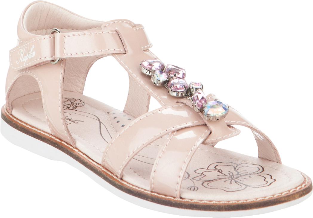 Сандалии для девочки Kapika, цвет: бежево-розовый. 33301-2. Размер 3033301-2Модные сандалии для девочки от Kapika выполнены из натуральной лакированной кожи. Внутренняя поверхность и стелька из натуральной кожи обеспечат комфорт при движении. Ремешок с застежкой-липучкой надежно зафиксирует модель на ноге. Подошва дополнена рифлением.