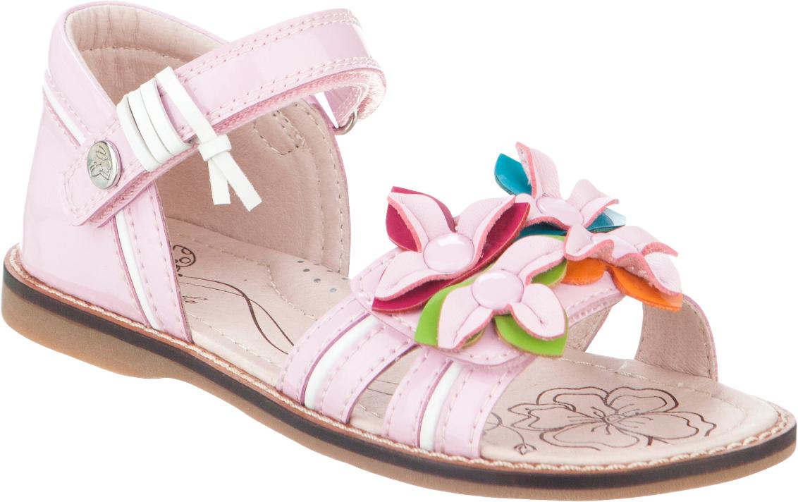 Сандалии для девочки Kapika, цвет: розовый. 33298п-1. Размер 3133298п-1Модные сандалии для девочки от Kapika выполнены из искусственной лакированной кожи. Внутренняя поверхность из искусственной кожи и стелька из натуральной кожи обеспечат комфорт при движении. Стелька оснащена супинатором. Ремешки с застежками-липучками надежно зафиксируют модель на ноге. Подошва дополнена рифлением.