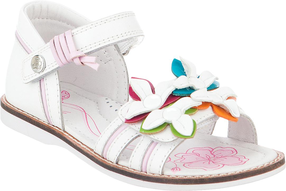Сандалии для девочки Kapika, цвет: белый. 33298-3. Размер 3133298-3Модные сандалии для девочки от Kapika выполнены из натуральной кожи. Внутренняя поверхность и стелька из натуральной кожи обеспечат комфорт при движении. Стелька оснащена супинатором. Ремешки с застежками-липучками надежно зафиксируют модель на ноге. Подошва дополнена рифлением.