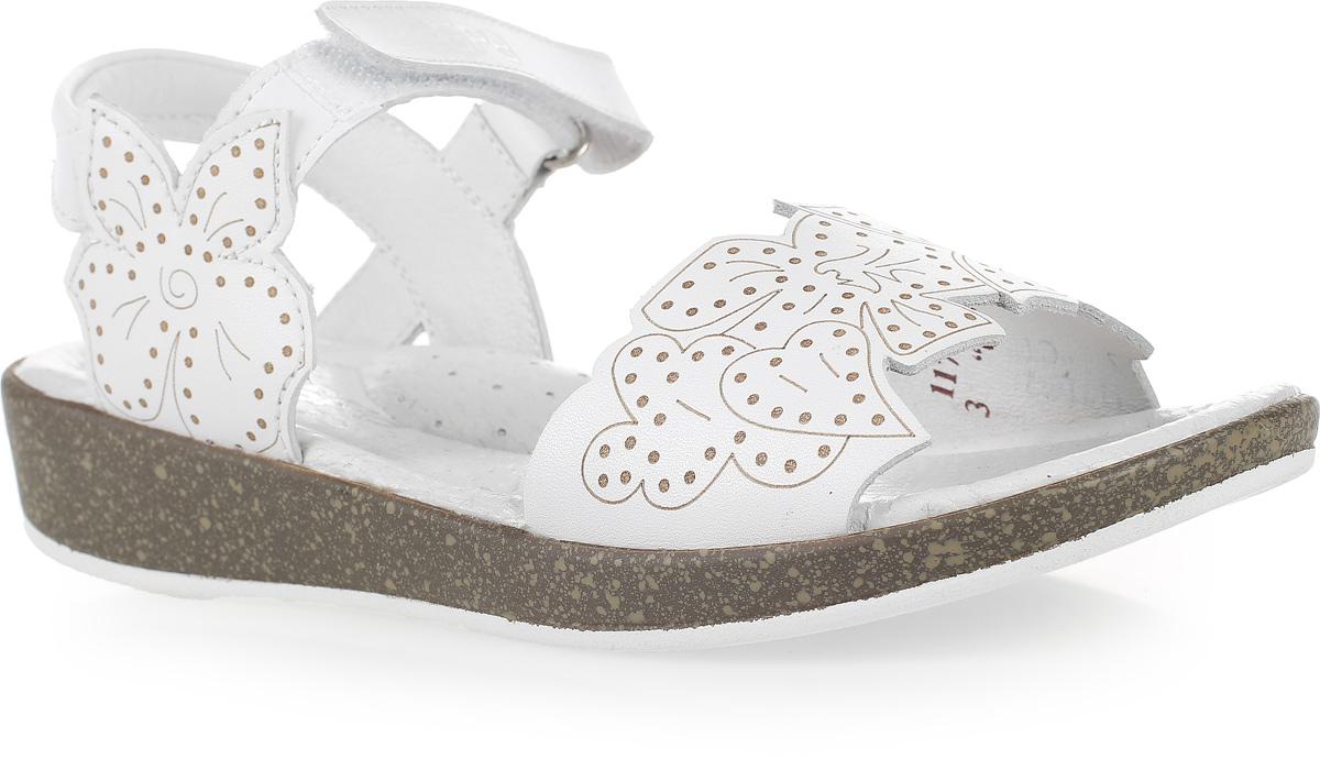 Сандалии для девочки Зебра, цвет: белый. 11716-2. Размер 3611716-2Стильные сандалии от Зебра выполнены из натуральной кожи. Ремешок на липучке на щиколотке обеспечивает оптимальную посадку обуви на ноге, не давая ей смещаться из стороны в сторону и назад.