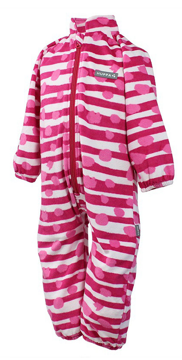 Комбинезон флисовый детский Huppa Roland, цвет: фуксия, белый. 3304BASE-63363. Размер 983304BASE-63363Детский комбинезон Huppa Roland - очень удобный и практичный вид одежды для малышей. Комбинезон выполнен из флиса, благодаря чему он необычайно мягкий и приятный на ощупь, не раздражает нежную кожу ребенка и хорошо вентилируется. Комбинезон с длинными рукавами и воротником-стойкой застегивается на пластиковую молнию с защитой подбородка. Рукава и штанины дополнены эластичными резинками. Спереди модель дополнена небольшой нашивкой с названием бренда. С детским комбинезоном спинка и ножки вашего ребенка всегда будут в тепле.