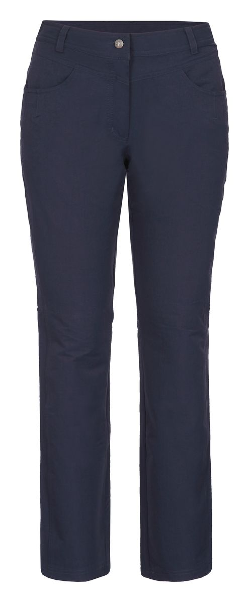 Брюки женские Icepeak, цвет: синий. 754056659IV. Размер 42 (48)754056659IVЖенские брюки от Icepeak, выполненные из высококачественного материала, в поясе застегиваются на пуговицу и ширинку на молнии, имеются шлевки для ремня. Модель прямого кроя с карманами.