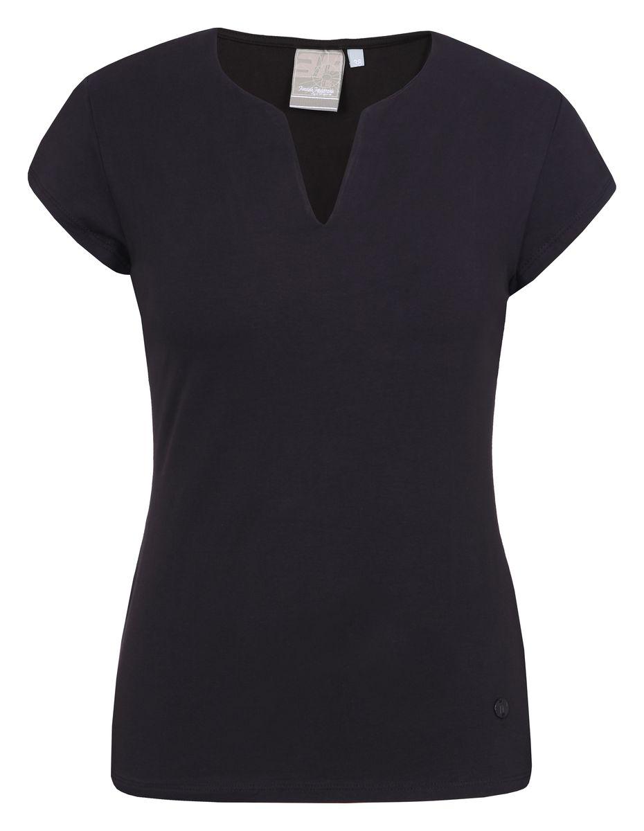 Футболка женская Icepeak, цвет: черный. 754723591IV. Размер 38 (44)754723591IVСтильная футболка Icepeak изготовлена из натурального хлопка с добавлением эластана. Модель прямого кроя выполнена с V-образной горловиной и короткими рукавами.