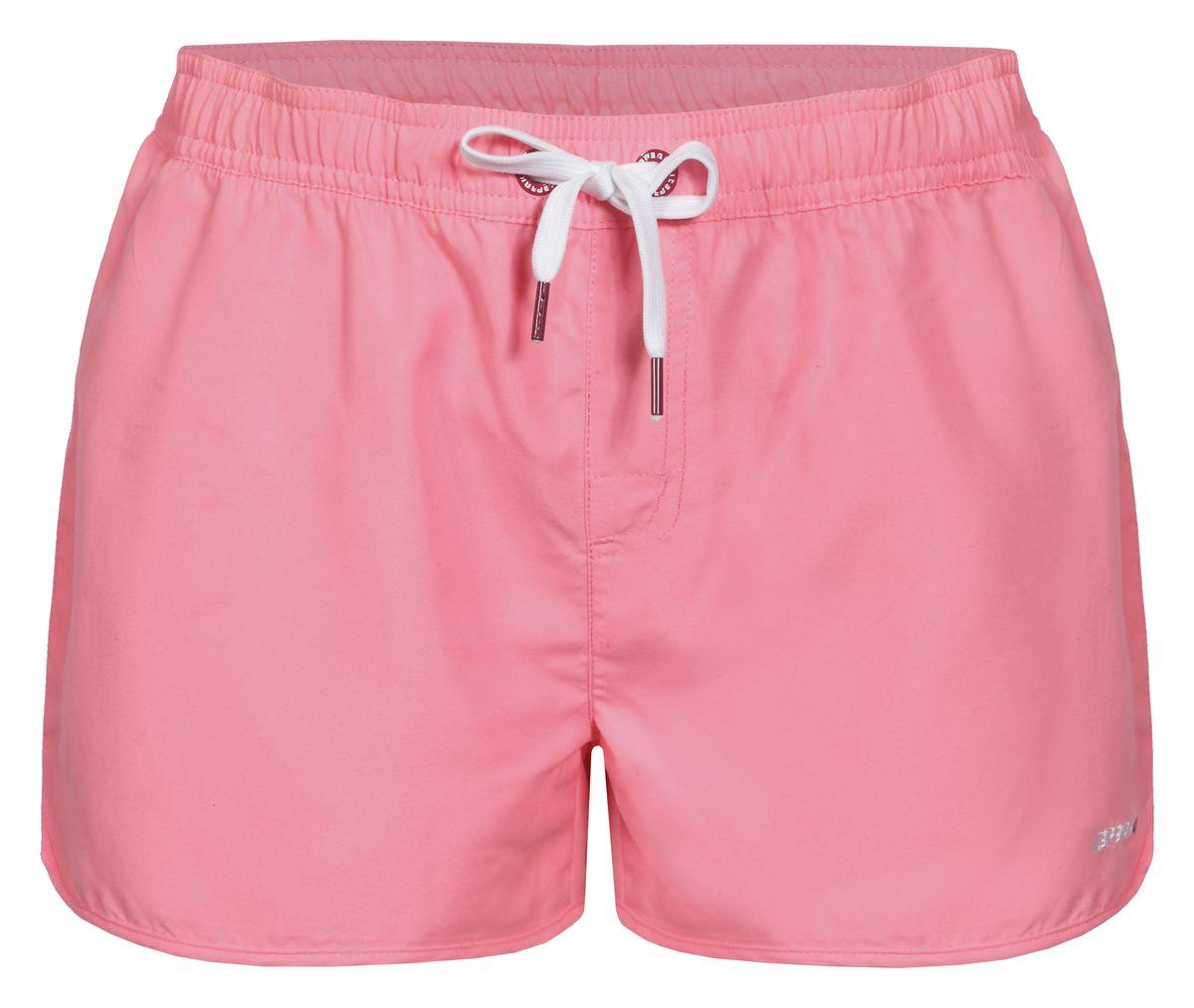 Шорты для плавания женские Icepeak Kristin, цвет: розовый. 754524513IV. Размер 34 (40)754524513IVПляжные шорты для плавания Kristin от Icepeak выполнены из мягкого и технологичного материала. Модель дополнена эластичным поясом со шнурком.