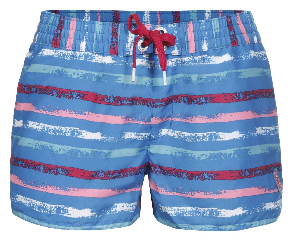 Шорты для плавания женские Icepeak Madele, цвет: синий, розовый. 754525620IV. Размер 42 (48)754525620IVПляжные шорты для плавания Madele от Icepeak выполнены из мягкого и технологичного материала. Модель дополнена эластичным поясом со шнурком.