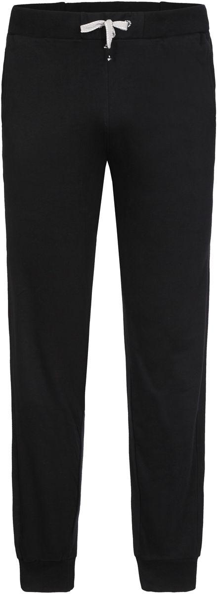 Брюки спортивные мужские Icepeak Lenny, цвет: черный. 757065573IV_990. Размер M (50)757065573IV_990Трикотажные спортивные брюки Lenny для мужчин от Icepeak выполнены из плотного трикотажа. Модель на эластичном поясе с кулиской на шнурке имеет два боковых кармана, эластичный манжеты.