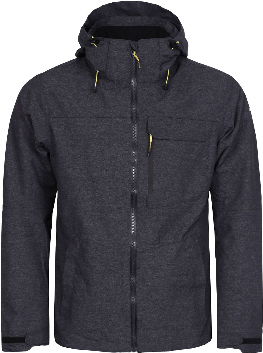 Куртка мужская Icepeak, цвет: серый. 756111516IV_290. Размер L (52)756111516IV_290Мужская куртка с подкладкой Icepeak выполнена из качественного материала. Модель с длинными рукавами застегивается на застежку-молнию. Изделие дополнено капюшоном и карманами.