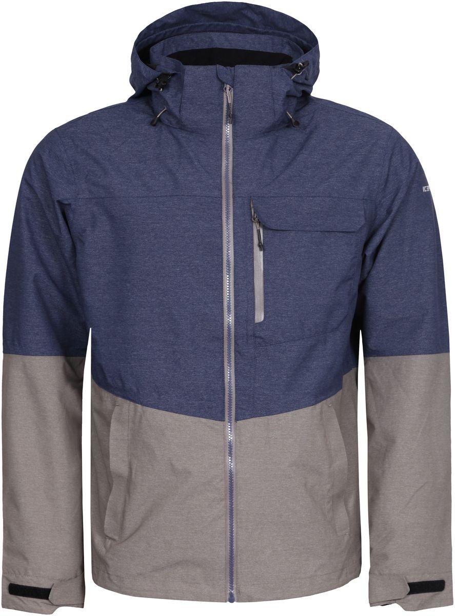 Куртка мужская Icepeak, цвет: синий, серый. 756111516IV_345. Размер XS (46)756111516IV_345Мужская куртка с подкладкой Icepeak выполнена из качественного материала. Модель с длинными рукавами застегивается на застежку-молнию. Изделие дополнено капюшоном и карманами.