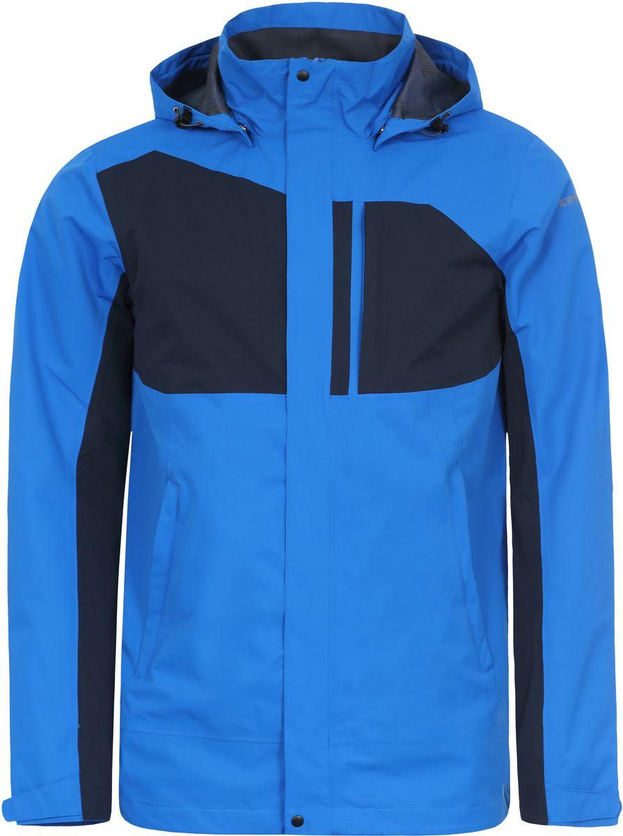 Куртка мужская Icepeak, цвет: синий, темно-синий. 756235577IVT_355. Размер M (50)756235577IVT_355Мужская куртка с подкладкой Icepeak выполнена из качественного полиэстера. Модель с длинными рукавами застегивается на застежку-молнию и планку с кнопками. Изделие дополнено капюшоном и двумя внешними карманами.