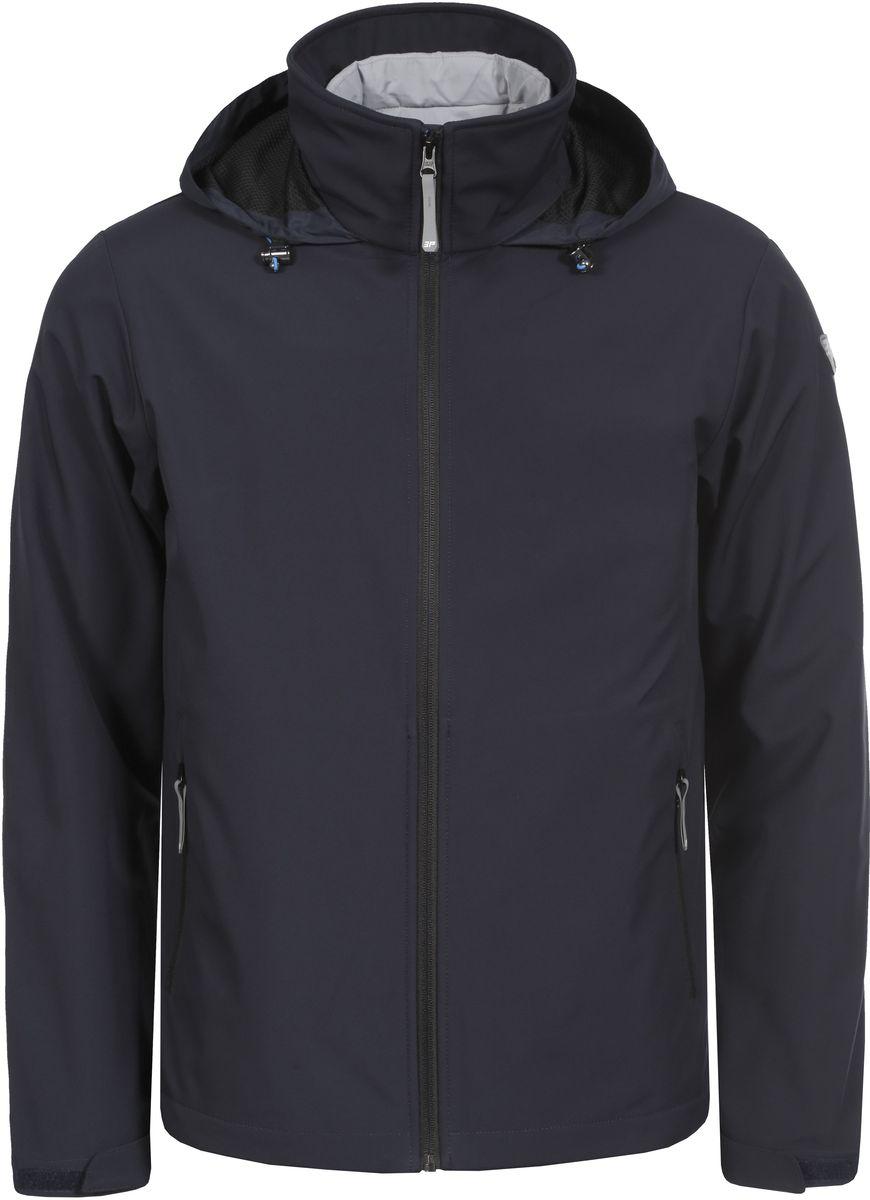 Куртка мужская Icepeak, цвет: темно-синий. 756012544IV_390. Размер S (48)756012544IV_390Мужская куртка с подкладкой Icepeak выполнена из качественного полиэстера. Модель с длинными рукавами застегивается на застежку-молнию. Изделие дополнено капюшоном и двумя внешними карманами на молниях.