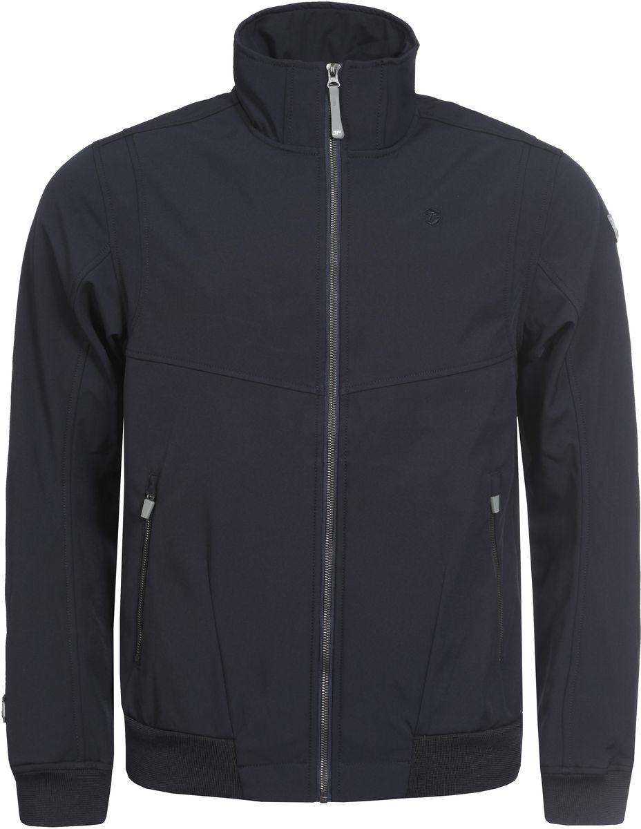 Куртка мужская Icepeak, цвет: темно-синий. 757853682IV_390. Размер M (50)757853682IV_390Мужская куртка с подкладкой Icepeak выполнена из качественного полиэстера. Модель с длинными рукавами застегивается на застежку-молнию. Изделие дополнено двумя внешними карманами на молниях. Манжеты рукавов и низ куртки оформлены эластичными трикотажными вставками.