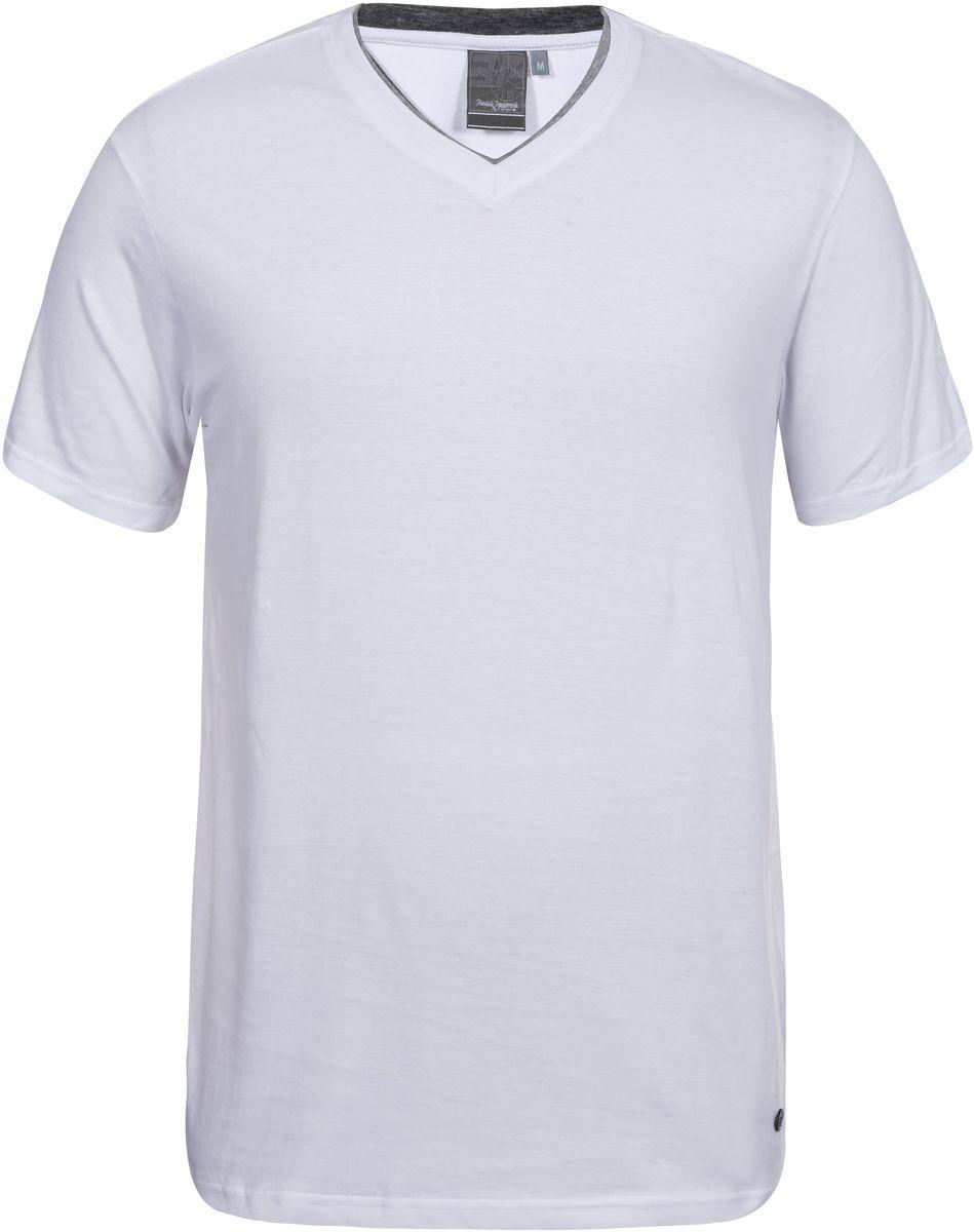 Футболка мужская Icepeak, цвет: белый. 757725514IVT_980. Размер S (48)757725514IVT_980Мужская футболка Icepeak изготовлена из натурального хлопка. Модель прямого кроя выполнена с V-образной горловиной и короткими рукавами.
