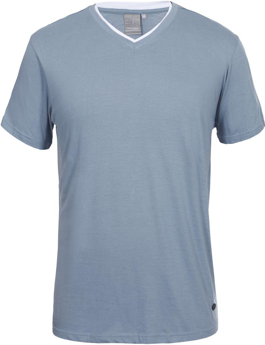 Футболка мужская Icepeak, цвет: голубой. 757725514IVT_320. Размер M (50)757725514IVT_320Мужская футболка Icepeak изготовлена из натурального хлопка. Модель прямого кроя выполнена с V-образной горловиной и короткими рукавами.