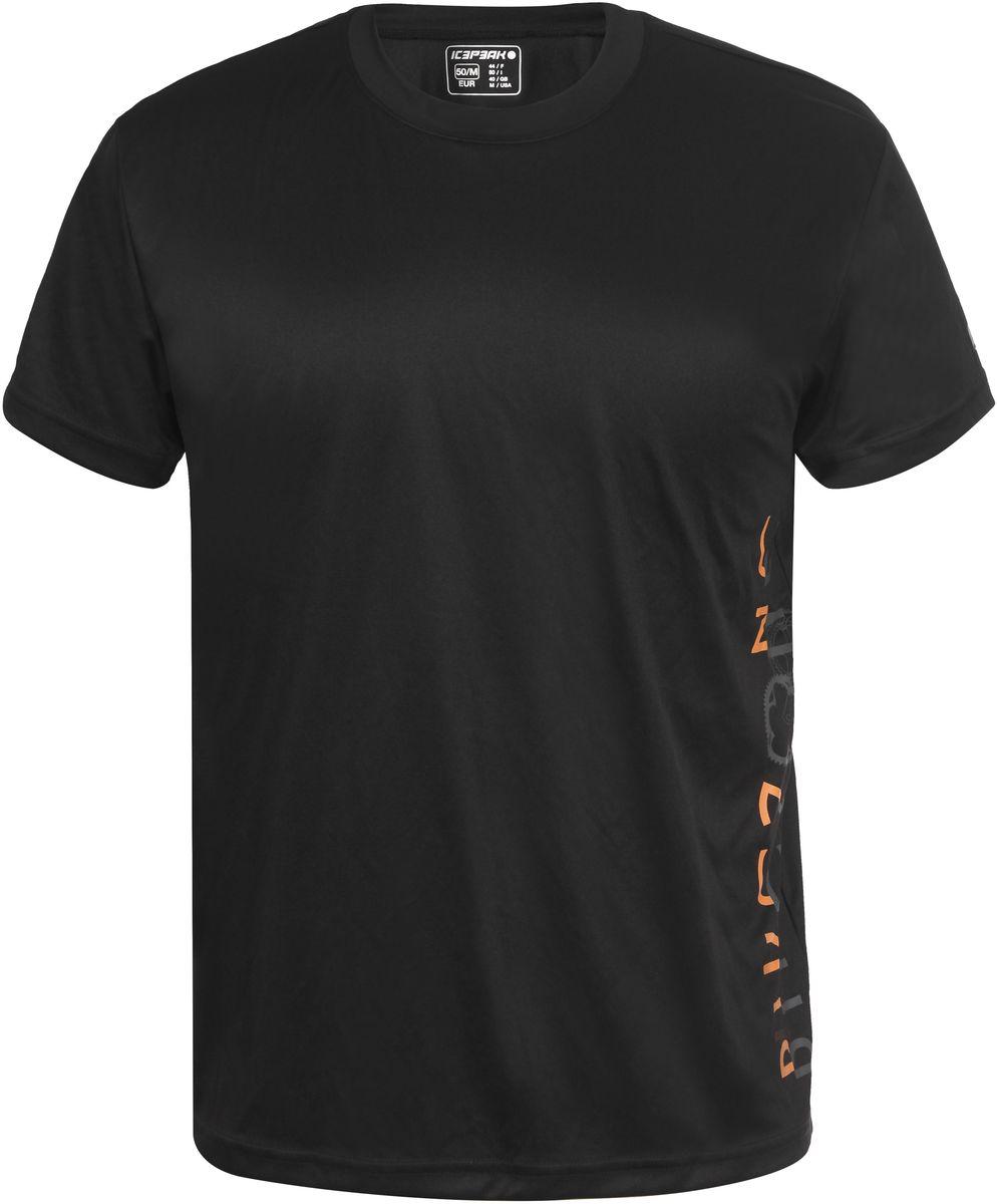 Футболка мужская Icepeak Fabian, цвет: черный, надпись. 757739601IV_990. Размер XL (54)757739601IV_990Мужская футболка Fabian от Icepeak выполнена из мягкого и технологичного материала. Модель с короткими рукавами и круглым вырезом горловины оформлена модным принтом. Отличный вариант для повседневной носки.