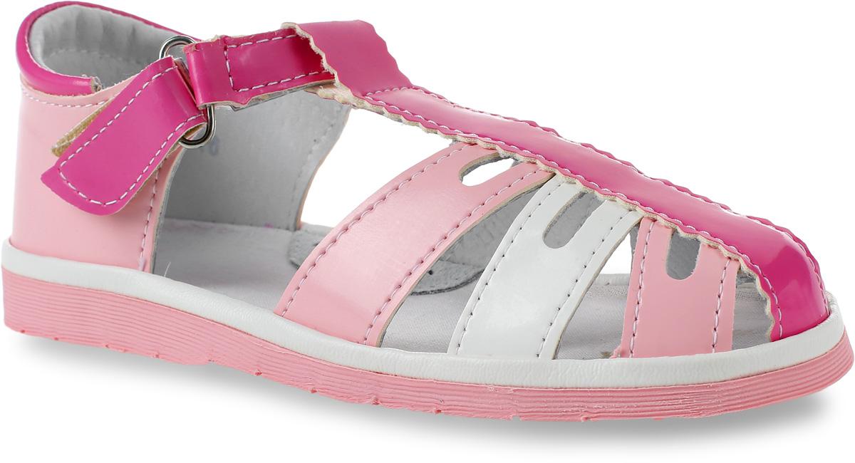 Сандалии для девочки Римал, цвет: розовый, белый, фуксия. 3621. Размер 28,53621Сандалии для девочки Римал выполнены из качественной искусственной кожи. Ремешок с липучкой обеспечит оптимальную посадку модели на ноге. Кожаная стелька с супинатором придаст максимальный комфорт при движении.