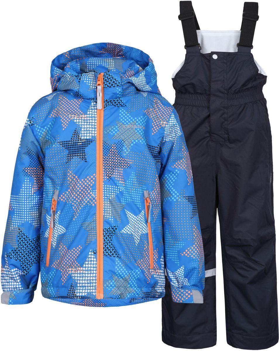 Комплект для мальчика Icepeak: куртка, полукомбинезон, цвет: голубой, серый. 752001IVT_335. Размер 92752001IVT_335Комплект верхней детской одежды Icepeak состоит из куртки и полукомбинезона. Куртка с капюшоном и воротником-стойкой застегивается на пластиковую молнию. На рукавах предусмотрены манжеты. Спереди расположены два врезных кармана на молниях. Оформлено изделие оригинальным принтом. Брюки спереди застегиваются на пластиковую молнию и кнопку. Модель дополнена эластичными наплечными лямками, регулируемыми по длине. На талии предусмотрена широкая резинка.Утеплитель: 80 г. Водонепроницаемость: 5000 мм. Воздухопроницаемость: 2000 г/м2/24ч.