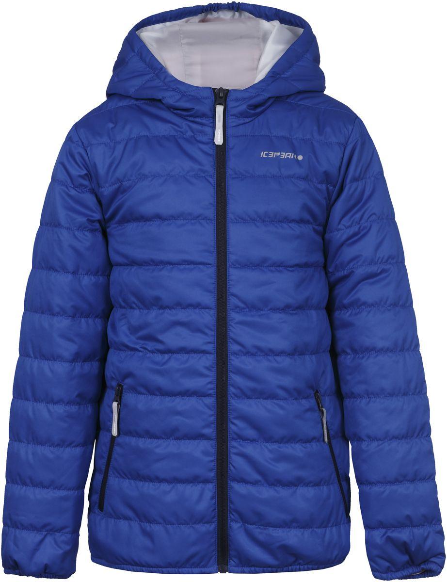 Куртка для мальчика Icepeak, цвет: синий. 750018504IV_350. Размер 164750018504IV_350Куртка для мальчика Icepeak выполнена из качественного материала. Модель с капюшоном и длинными рукавами застегивается на застежку-молнию. Изделие дополнено двумя врезными карманами на молниях.