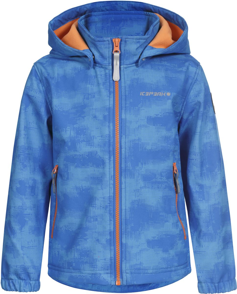 Куртка для мальчика Icepeak, цвет: синий. 751816656IVT_312. Размер 104751816656IVT_312Куртка для мальчика Icepeak выполнена из качественного полиэстера. Модель со съемным капюшоном и длинными рукавами застегивается на молнию. Изделие дополнено двумя врезными карманами на молниях.