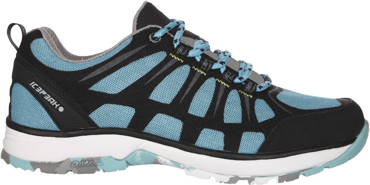 Кроссовки женские Icepeak, цвет: голубой. 775207100IV. Размер 40 (39)775207100IVКроссовки женские Icepeak - идеальный вариант для теплой погоды. Модель на шнурках, изготовлена из сетчатой ткани во вставками из искусственной замши.