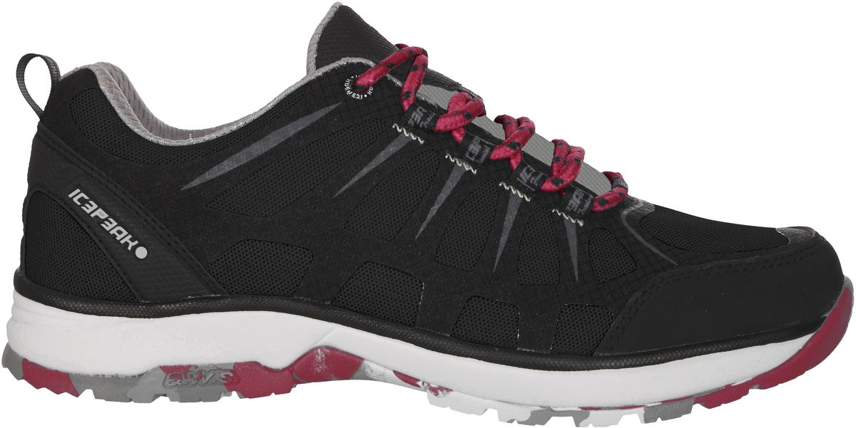 Кроссовки женские Icepeak, цвет: черный. 775207100IV. Размер 37 (36)775207100IVКроссовки женские Icepeak - идеальный вариант для теплой погоды. Модель на шнурках, изготовлена из сетчатой ткани во вставками из искусственной замши.