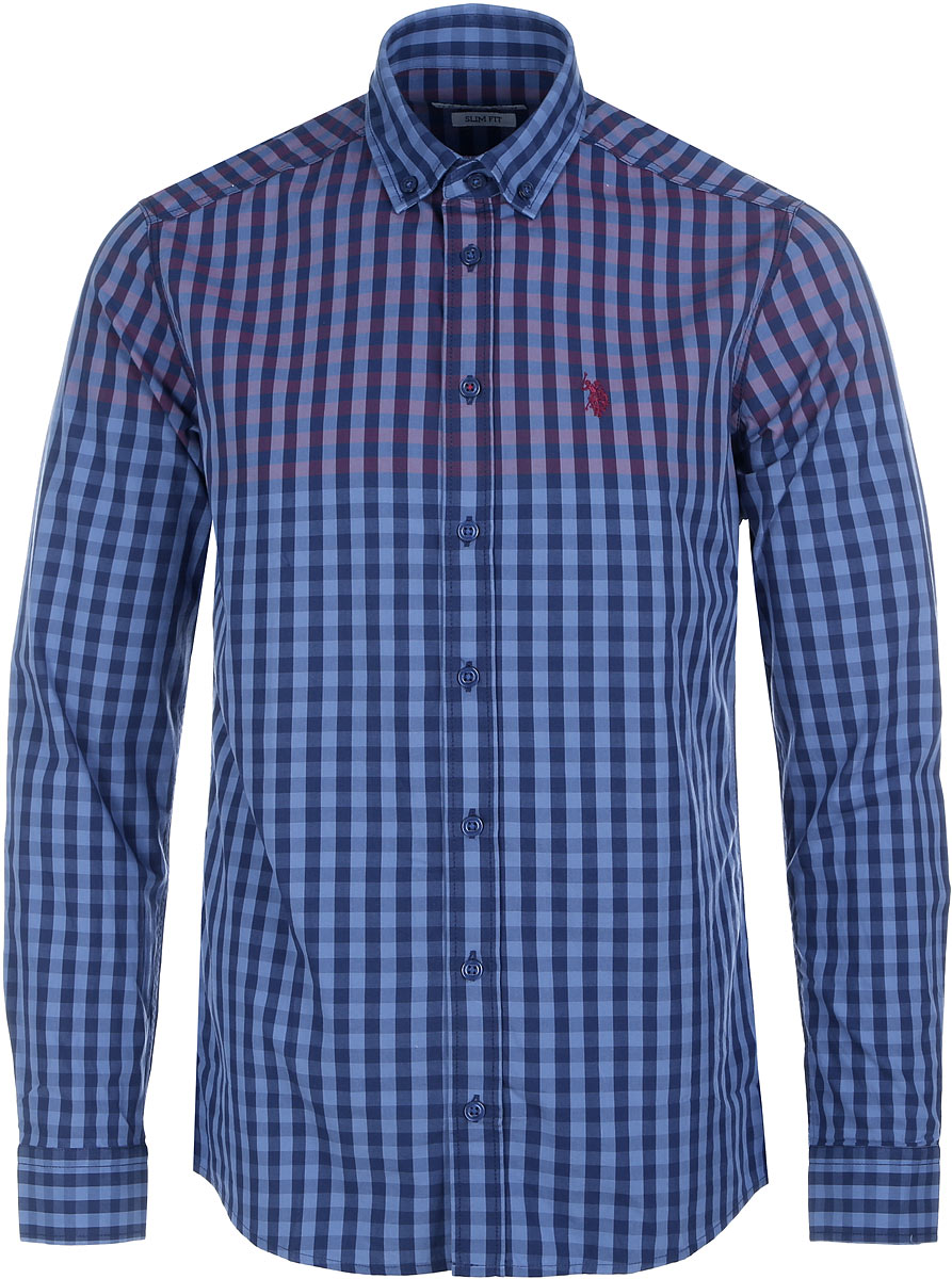 Рубашка мужская U.S. Polo Assn., цвет: синий. G081GL004AVILTANSY_VR014. Размер XS (46)G081GL004AVILTANSY_VR014Рубашка мужская U.S. Polo Assn. исполнена из 100% хлопка. Имеет длинные рукава и классический воротничок, лацканы которого пристегиваются на пуговицы для удобной фиксации галстука при носке. Застегивается изделие на манжетах и спереди на пуговицы.